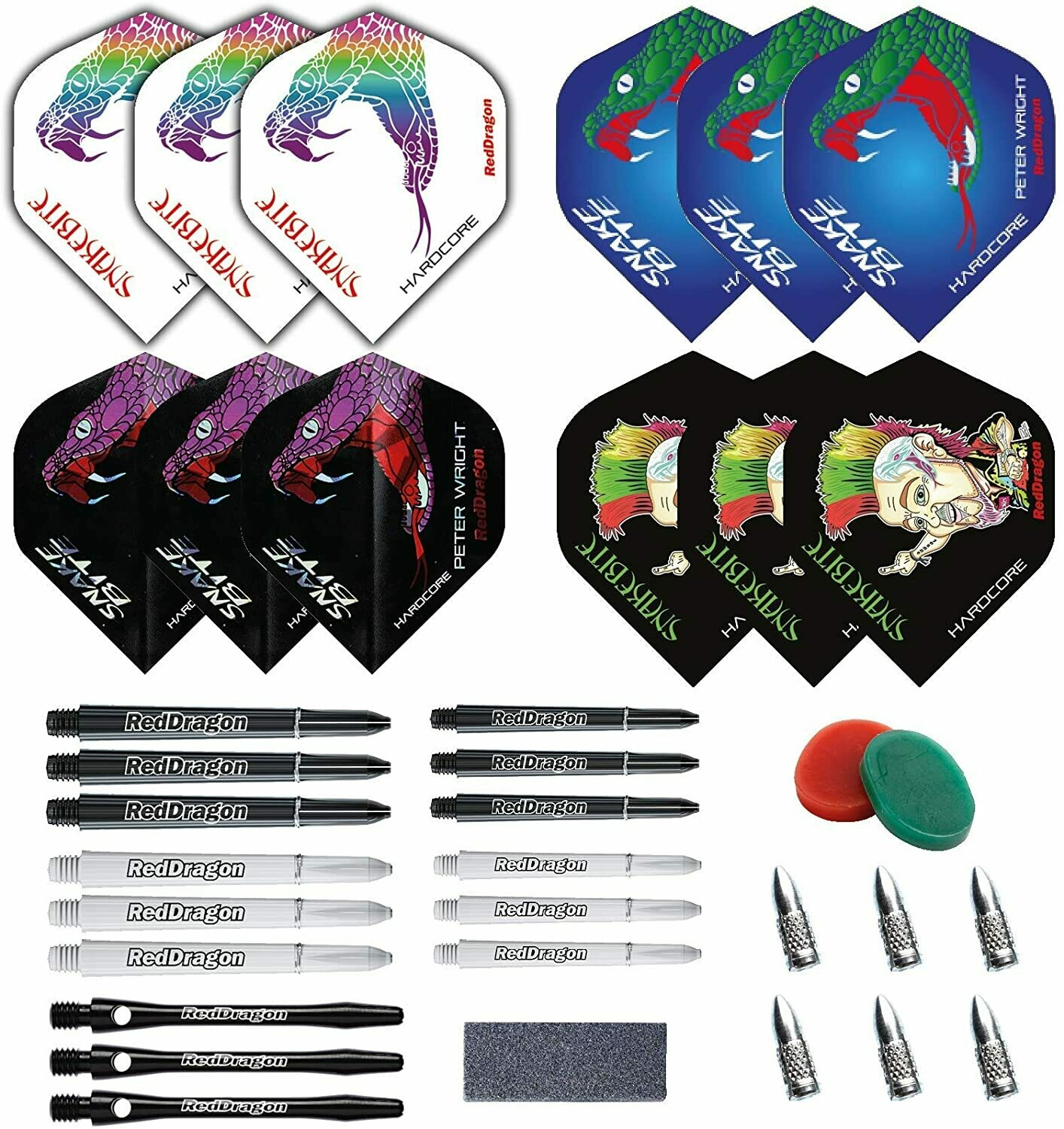 Peter Wright Snakebite Darts Accessory Pack