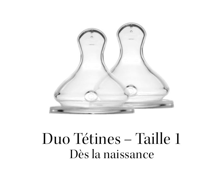 Duo Tétines - Élhée - Taille 1 - Debit lent 01155