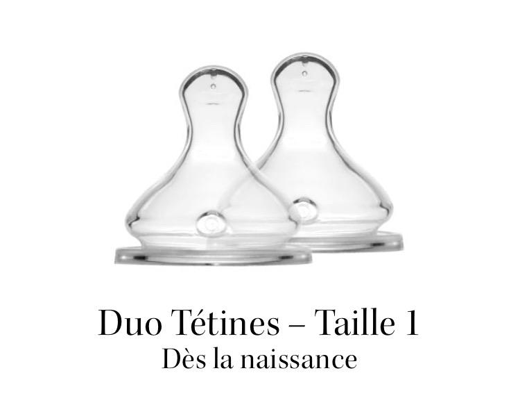 Duo Tétines - Élhée - Taille 1 Débit Moyen 01156