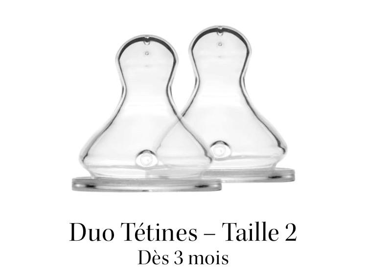 Duo Tétines - Élhée - Taille 2 Débit Moyen 01157