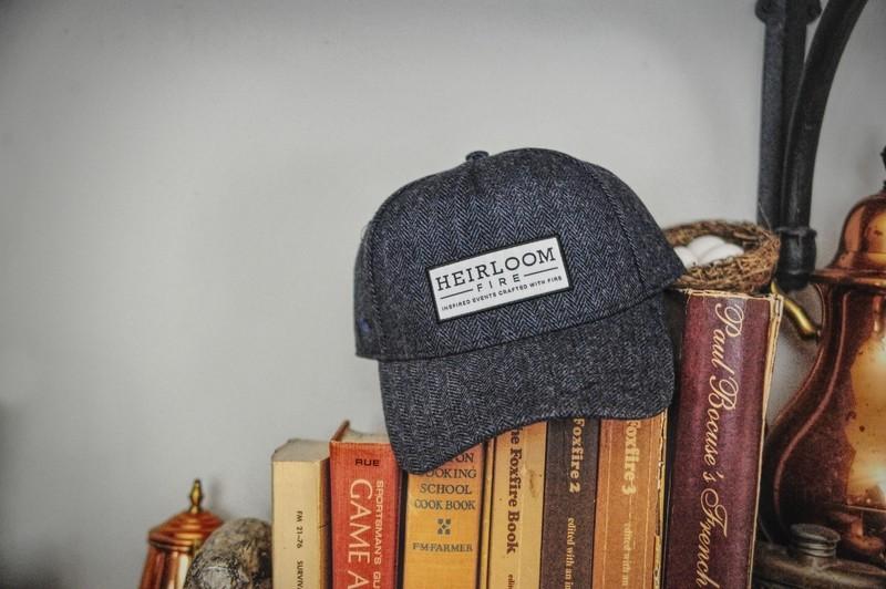 Blue Herringbone Cap | Heirloom Fire