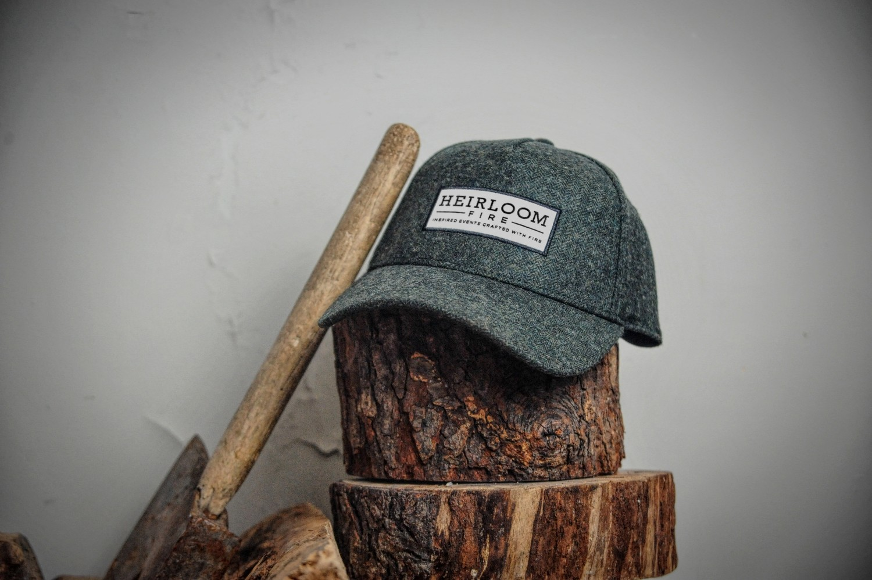 Green Herringbone Cap | Heirloom Fire