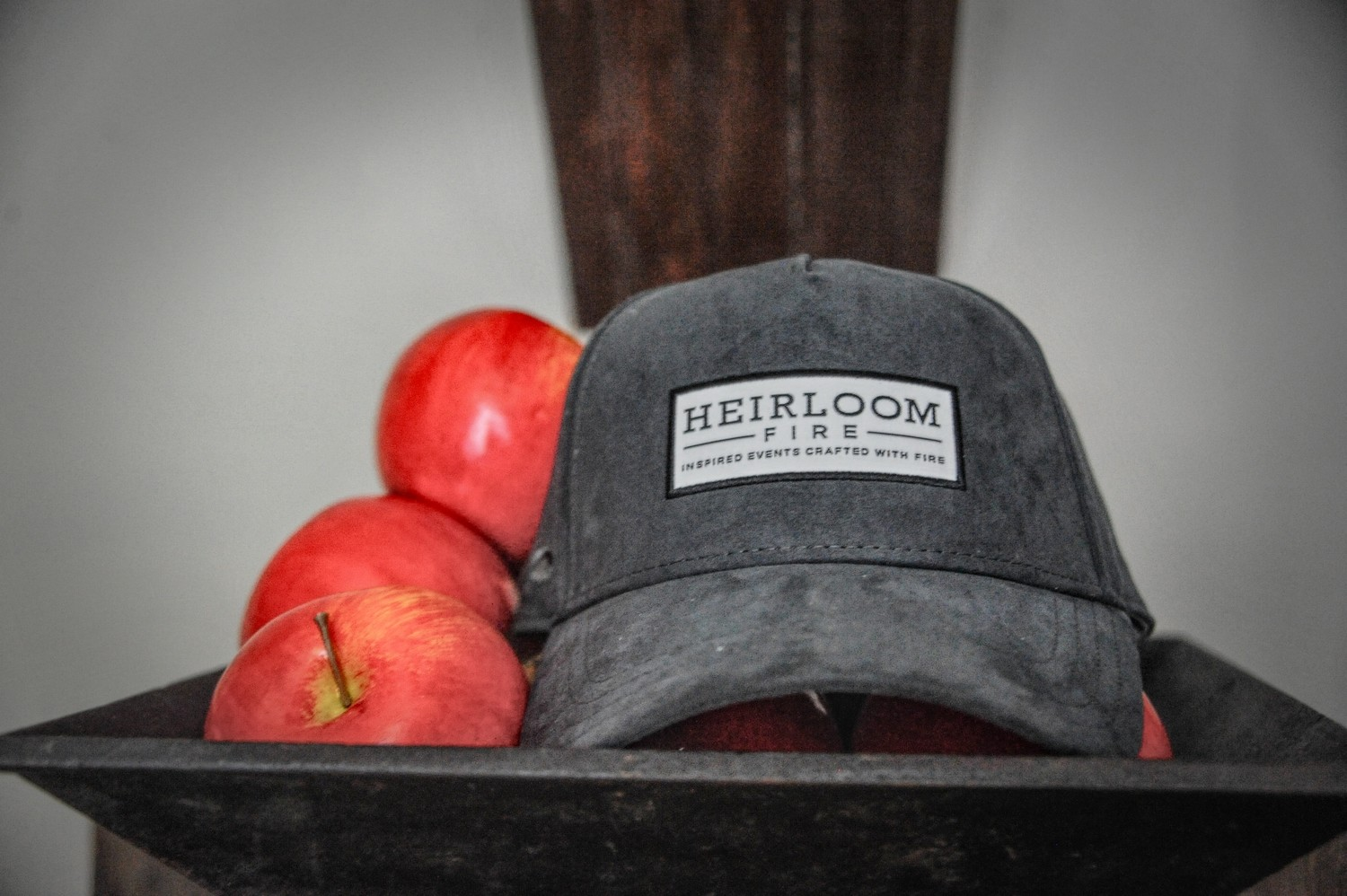 Slate Grey Suede Cap | Heirloom Fire