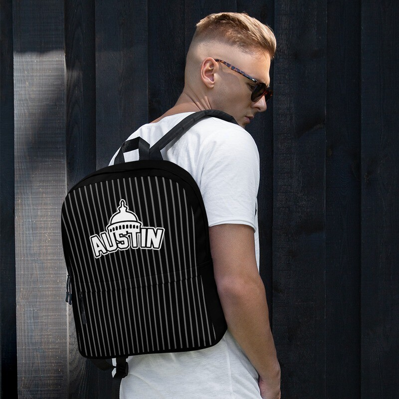 Cap City Pinstripe Backpack