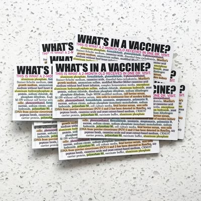Magnets - What's In a Vaccine? - (20 qty.)