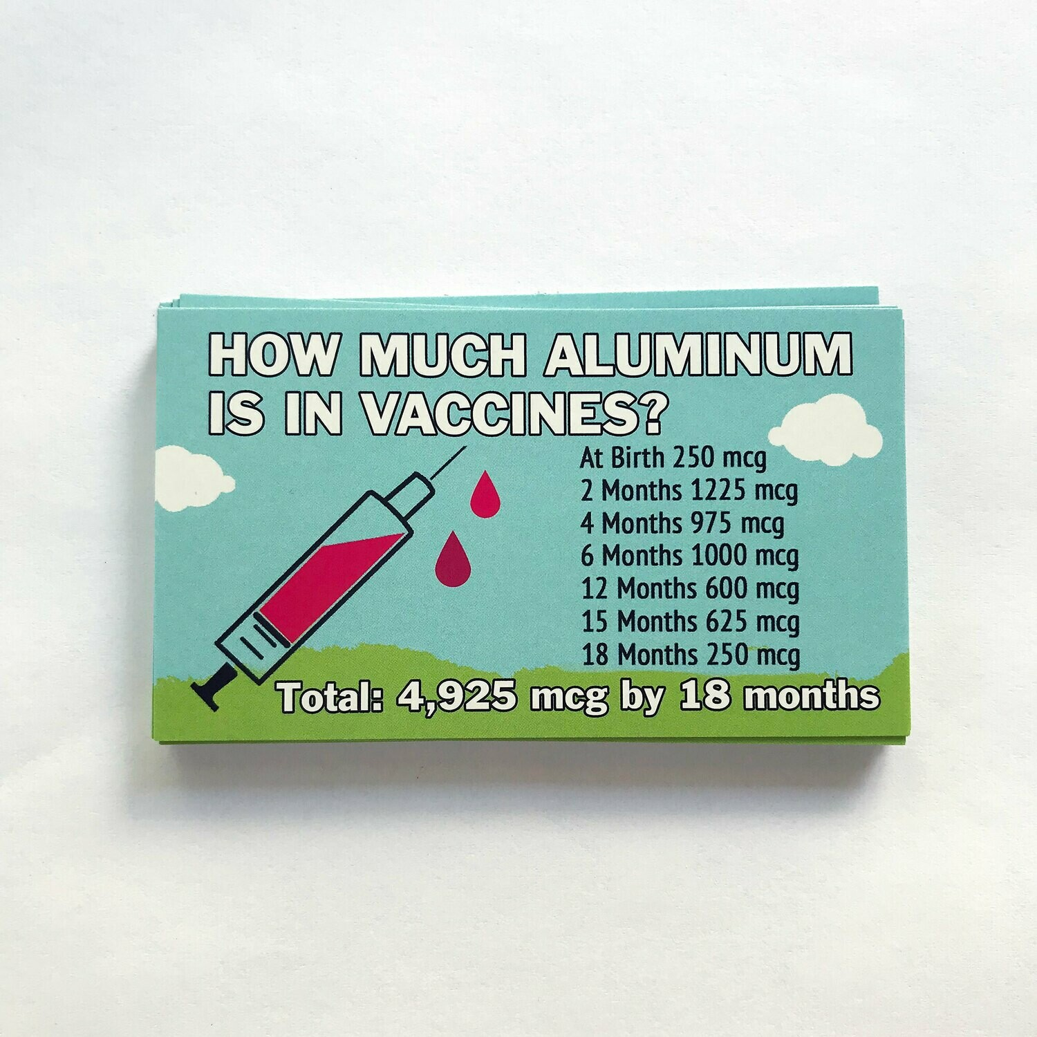 Info Cards - How Much Aluminum Is In Vaccines? (qty. 100)