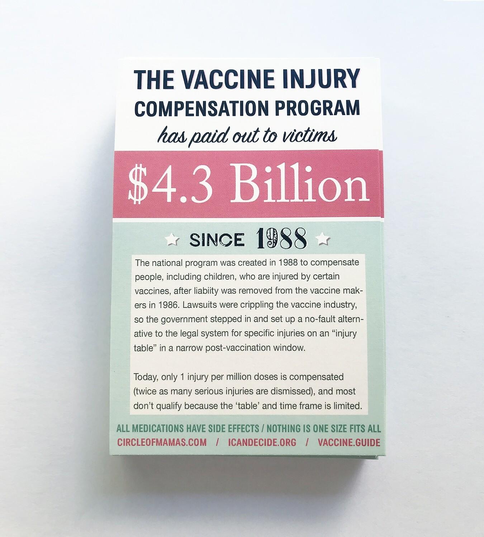 Postcards: Vaccine Injury Compensation / Vaccine Schedule (50 qty.)