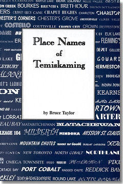 Place Names of Temiskaming