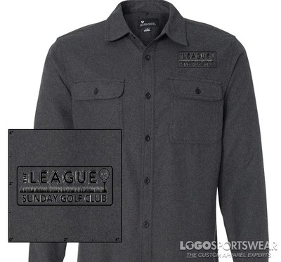 Burnside Solid Long Sleeve Flannel