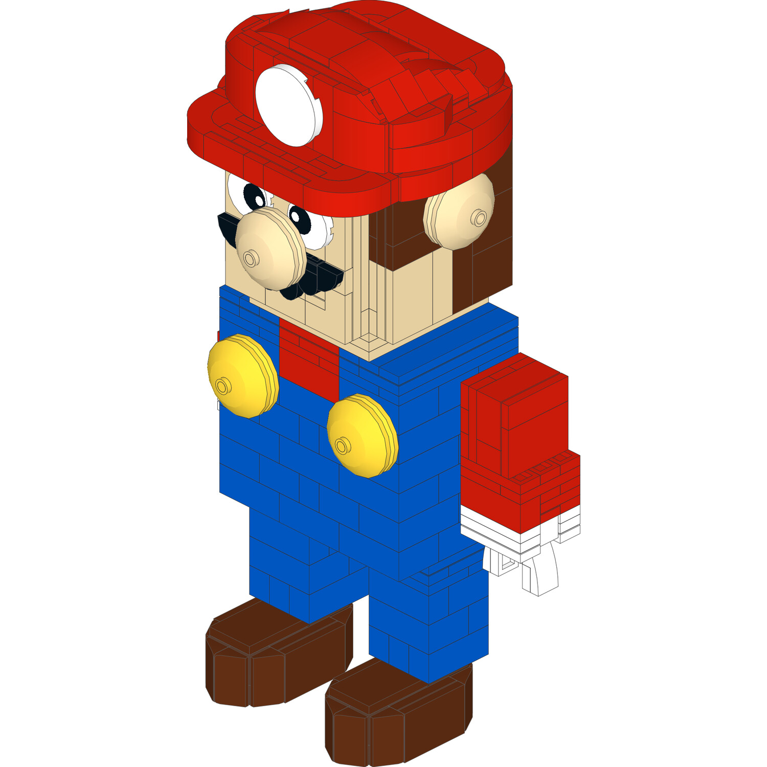 Super Mario™ Inspired Mega Mario Buildable Figure - INSTRUCTIONS ONLY