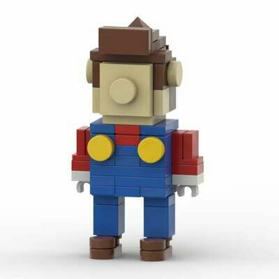 Super Mario™ Inspired Super Mario Buildable Figure - INSTRUCTIONS ONLY