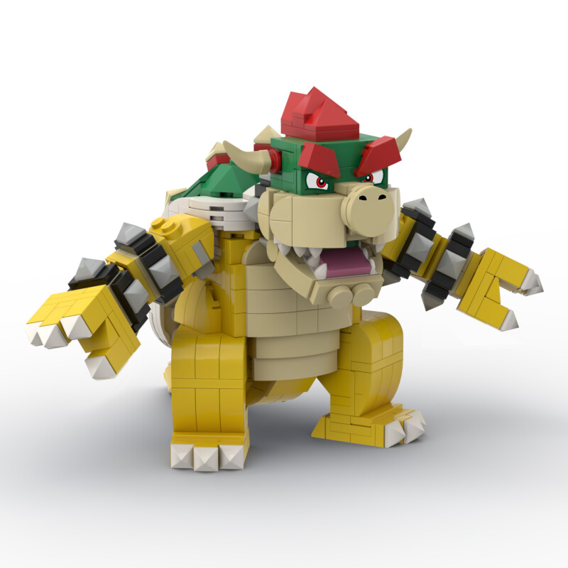 Instructions & Stickers for Super Mario® Inspired Bowser Build