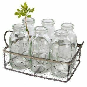 Mini Bottles Wire Basket