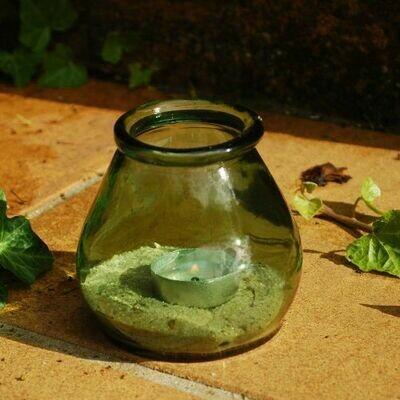 Green Hurricane Vase