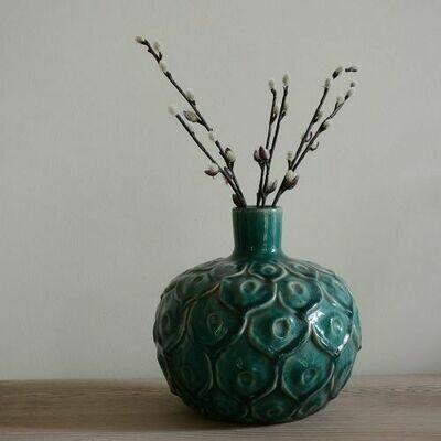 Peacock Stem Vase