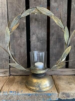 Laurel Leaf Candle Holder
