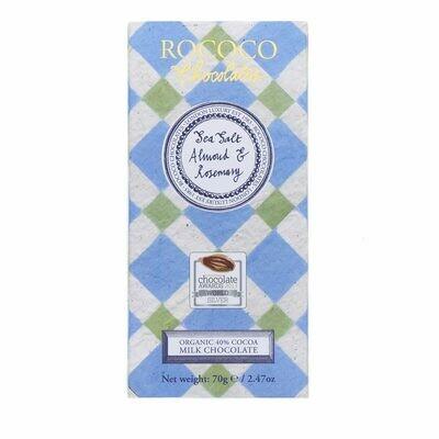 Rococo - Sea Salt, Almond and Rosemary Milk Chocolate