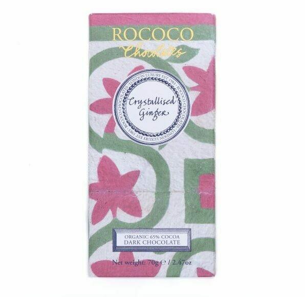 Rococo - Crystallised Ginger Dark Chocolate
