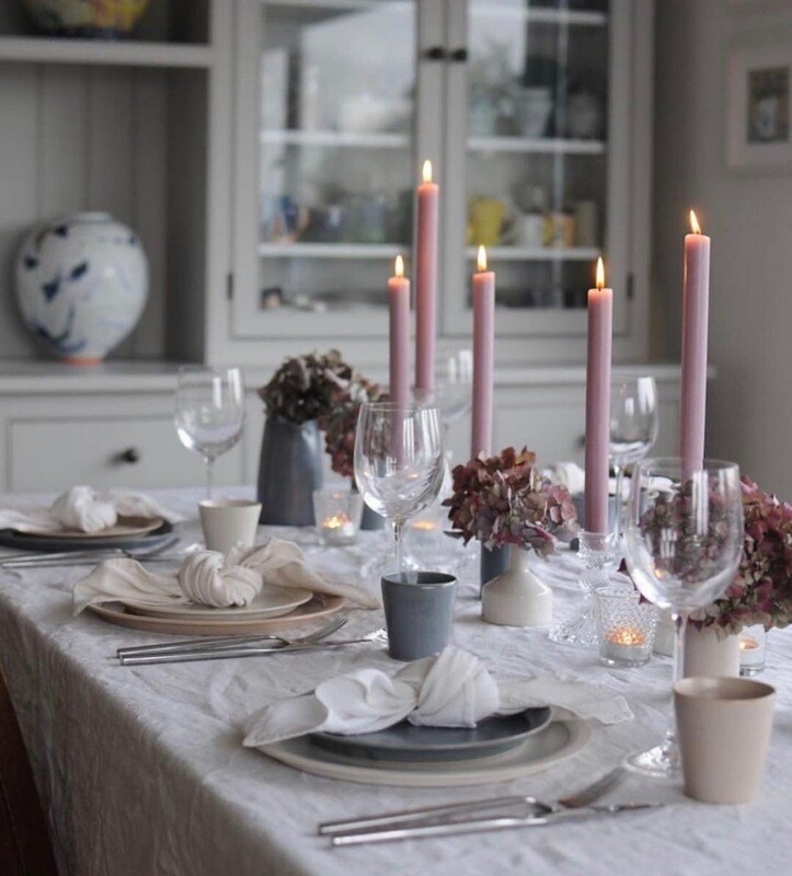 Solid Colour Dinner Candles