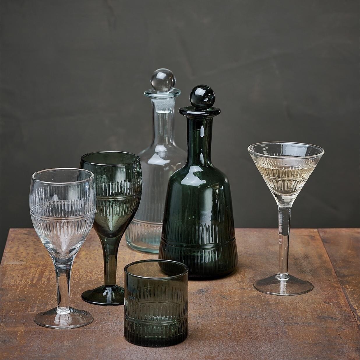 Emerald Green Cocktail Glass