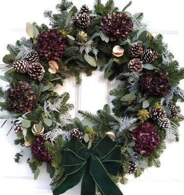 Festive Luxury Wreath Making Workshop - Thu 3rd Dec 2020 - 10am