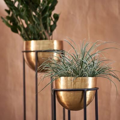 Brass & Iron Planter (Tall)