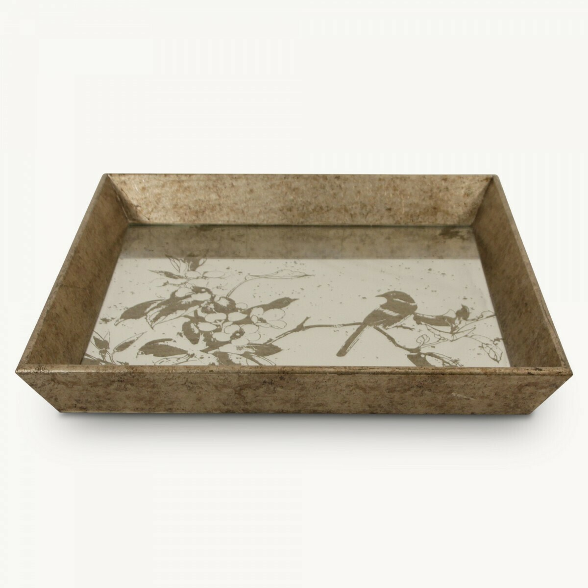 Bird Mirrored Tray