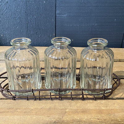 Wire Tray & Bottles