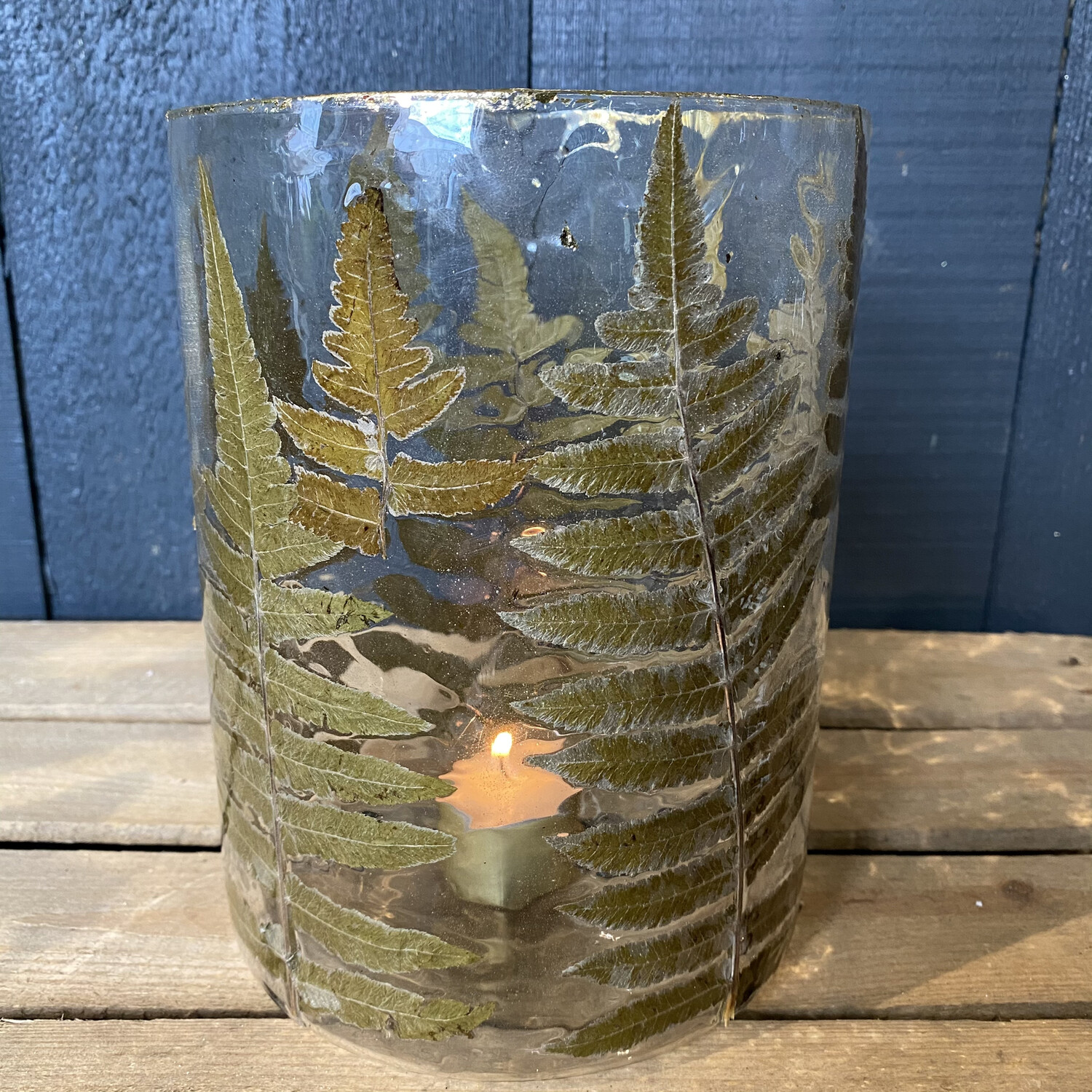 Tall Fern Candle Holder