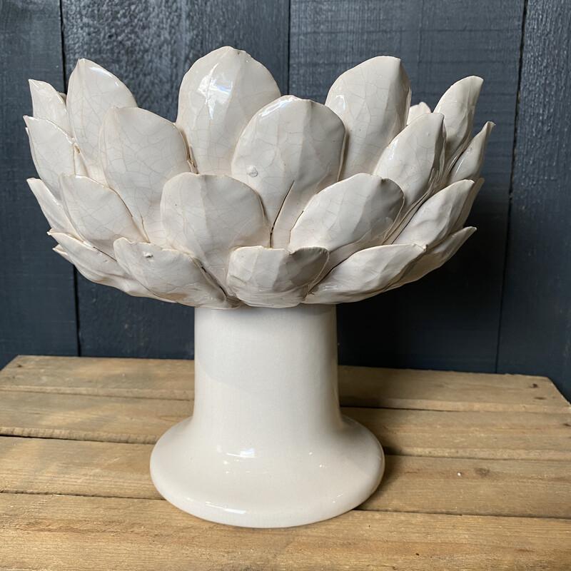 White Artichoke Bowl