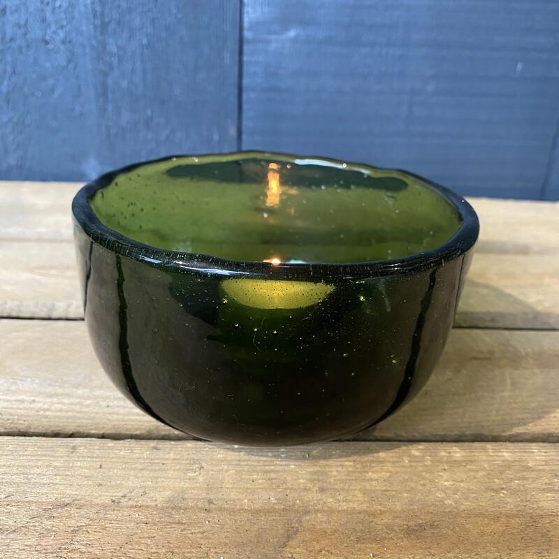 Emerald Glass Bowl Medium