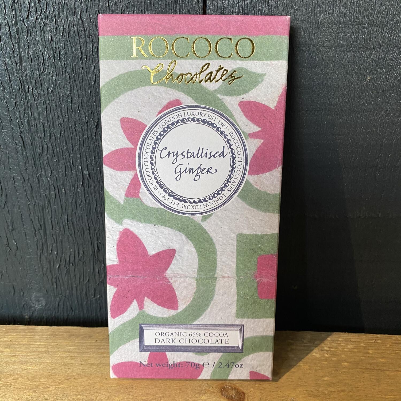 Rococo Crystallised Ginger Dark Chocolate