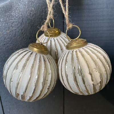 White Chalk Baubles