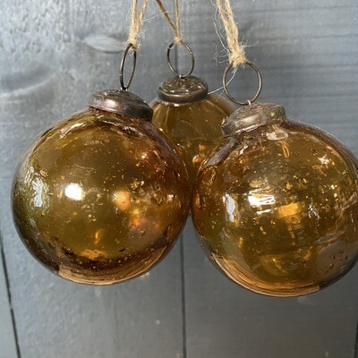 Amber Glass Baubles