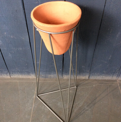 Large Terracotta And Iron Planter