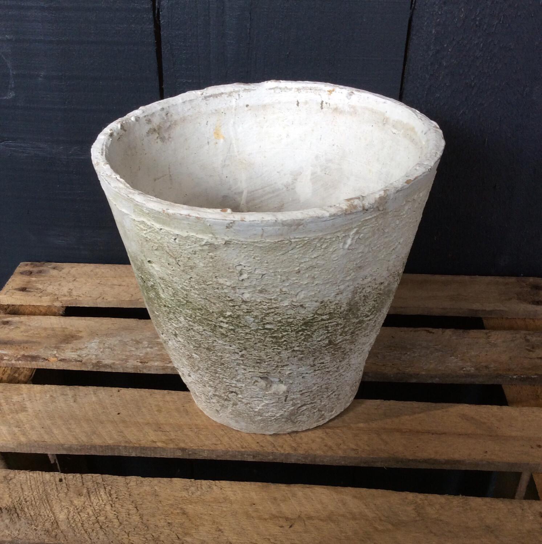 White Stone Pot