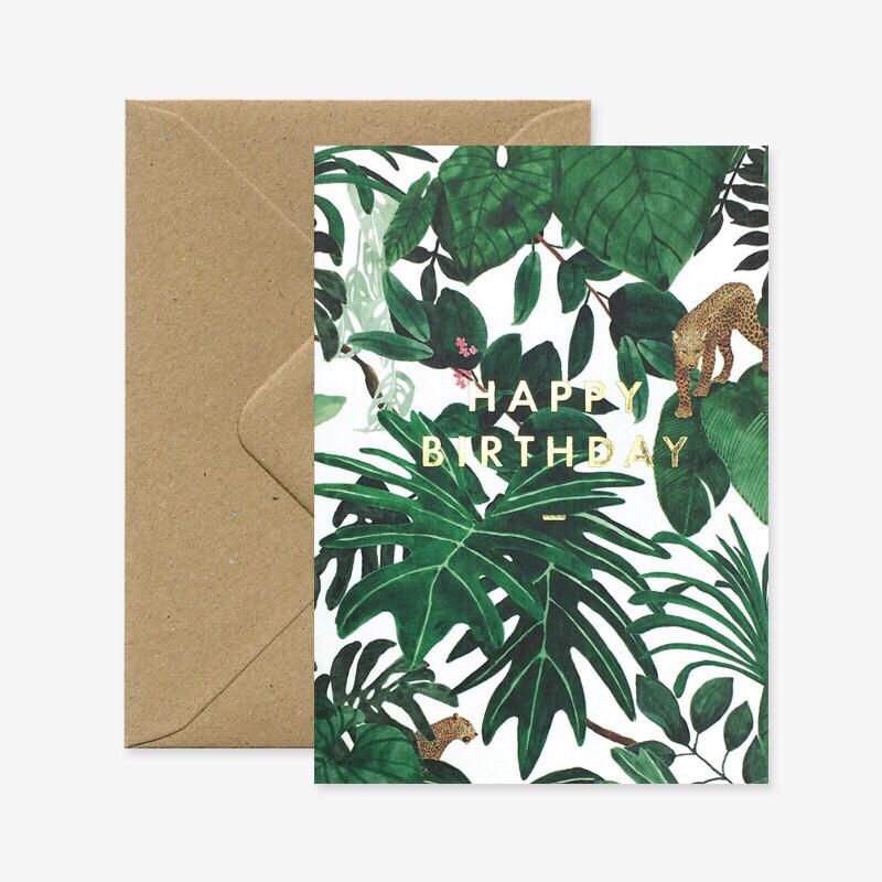 Jungle - Happy Birthday Gold Foil
