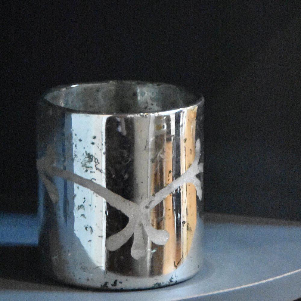 Silvered Tealight Holder