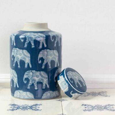 Elephant Ginger Jar