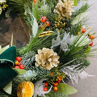 Christmas Wreath Workshop - Thu 2nd Dec 2021 - 10am
