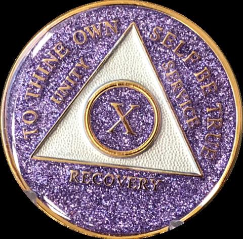 Purple Glitter Medallion Years 1-5
