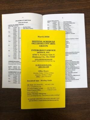 Printed Meeting Schedule