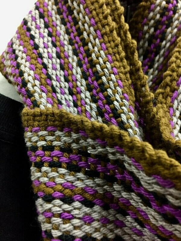 Late Autumn- Traditional Irish Handwoven scarf or sash