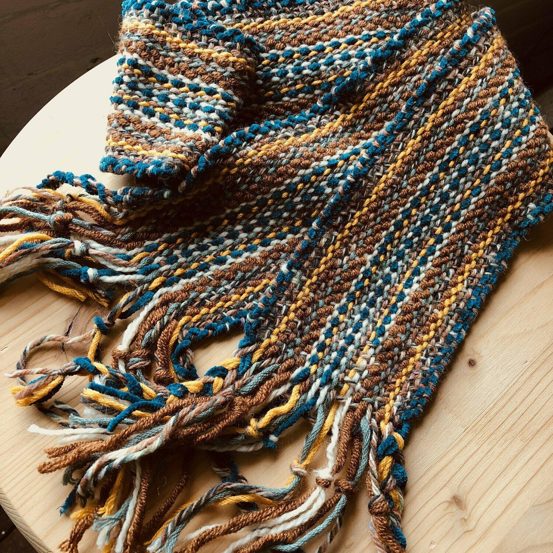 Autumn Spice Scarf - Handwoven scarf or sash