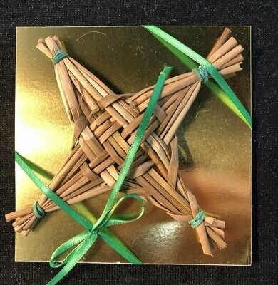 Brigid's Bow cross, ornament, traditional reed handweaving