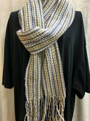 Foggy Strand -Handwoven scarf or sash