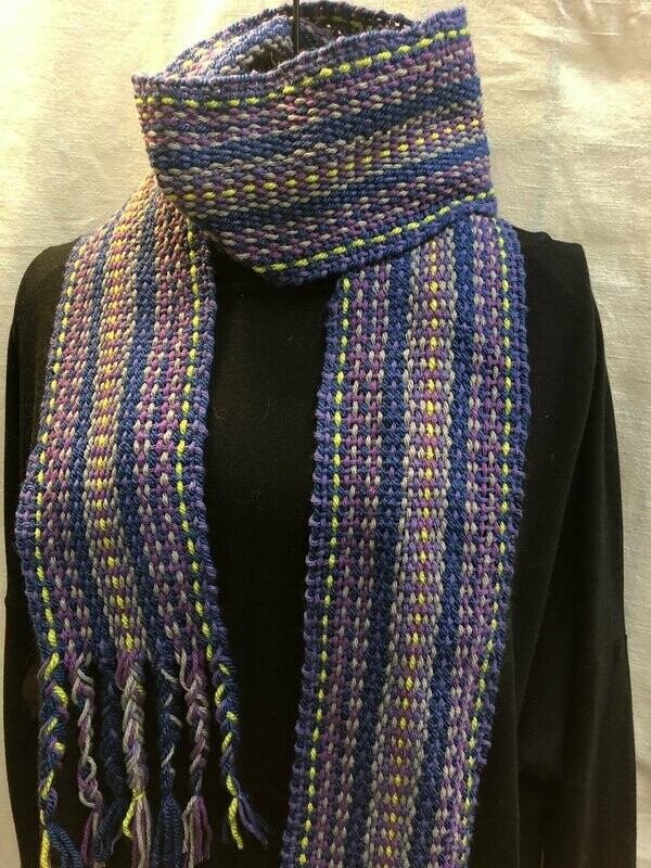 Blue Moon -Handwoven scarf or sash
