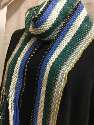 Landscape Scarf or Sash- Traditional Irish Handwoven Crios Style