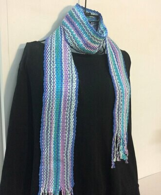 Spring Garden Scarf or Sash- Traditional Irish Handwoven Crios Style