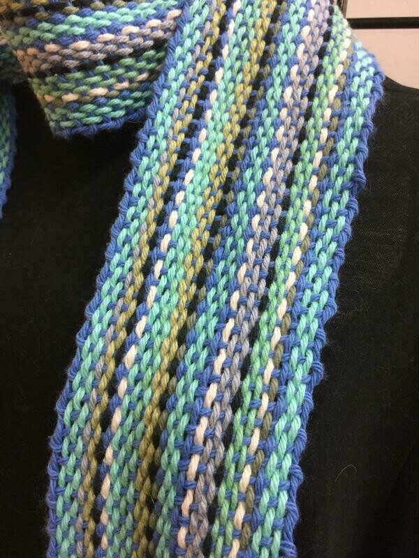 Shoreline Greens Scarf or Sash- Traditional Irish Handwoven Crios Style